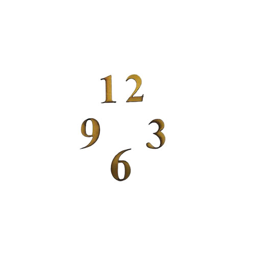 نوع جنس اعداد : مولتی استایل براق  4 عدد اصلی ساعت ( 3 ، 6، 9 ، 12 )   طول هر عدد : 4cm