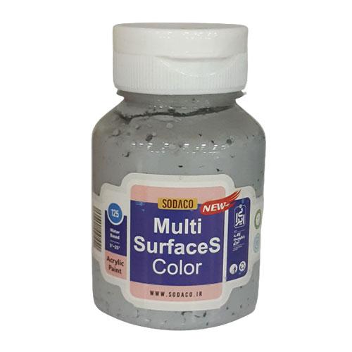رنگ مولتی سورفیس طوسی از برند سوداکو,در وزن ۱۲۵ میل,قابل استفاده بر روی: بوم نقاشی، شیشه، چوب، چرم، فلز، کاغذ، پلکسی گلاس، کاشی و سرامیک، کریستال، پوست، مقوا