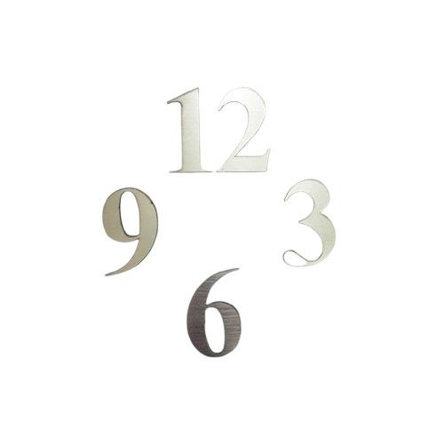 نوع جنس اعداد : مولتی استایل براق  √ ۴ عدد اصلی ساعت ( ۳ ، ۶، ۹ ، ۱۲ )  √ طول هر عدد : ۶CM  √ مناسب تخته ساعت های رو میزی