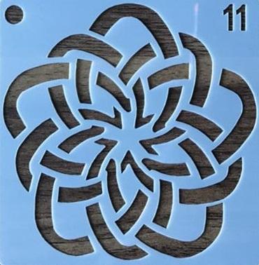شابلون ساخته شده از طلق ضخیم,قابل شست و شو و بارها می توانید از آن استفاده کنید.سایز شابلون مورد نظر ۱۰ در ۱۰ می باشد.